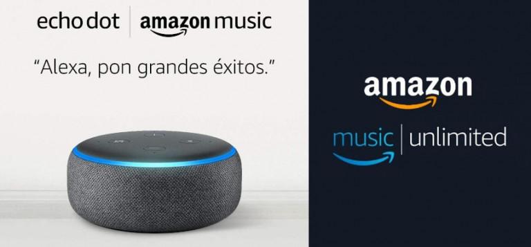 ¡TOMA CHOLLO! Altavoz inteligente Amazon Echo Dot sólo + 6 meses de Amazon Music Unlimited 19,99 euros. 71% de descuento.