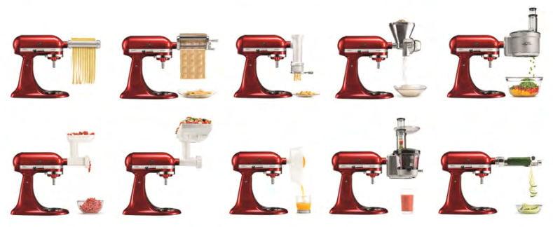 Accesorios adicionales para robots de cocina KitchenAid