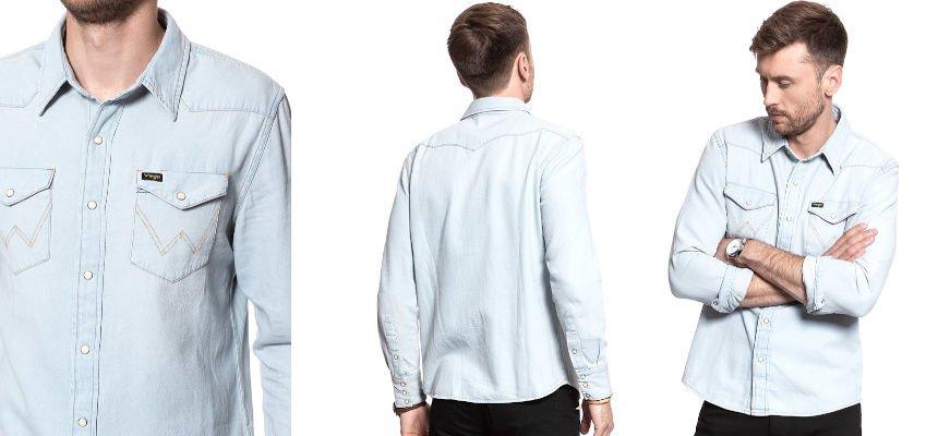 Camisa vaquera Wrangler Icons barata, ofertas en ropa de marca