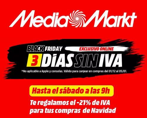 Día sin IVA MediaMarkt, chollos MediaMarkt, ofertas MediaMarkt