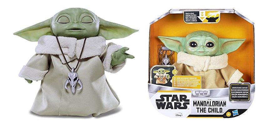 Muñeco Baby Yoda The Child Animatrónico barato, juguetes baratos, ofertas en merchandising