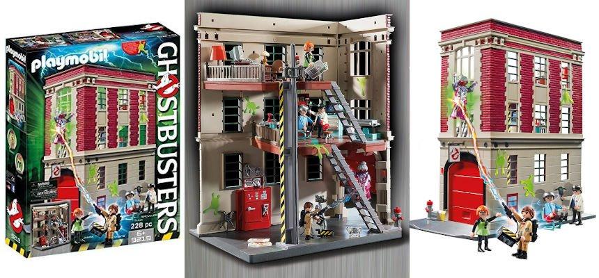 Playmobil Cuartel Parque de Bomberos Ghostbusters barato, juguetes baratos, ofertas para niños