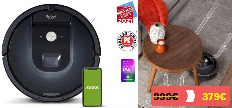 ¡TOMA CHOLLO! Robot aspirador Roomba 981 sólo 379 euros. 62% de descuento.
