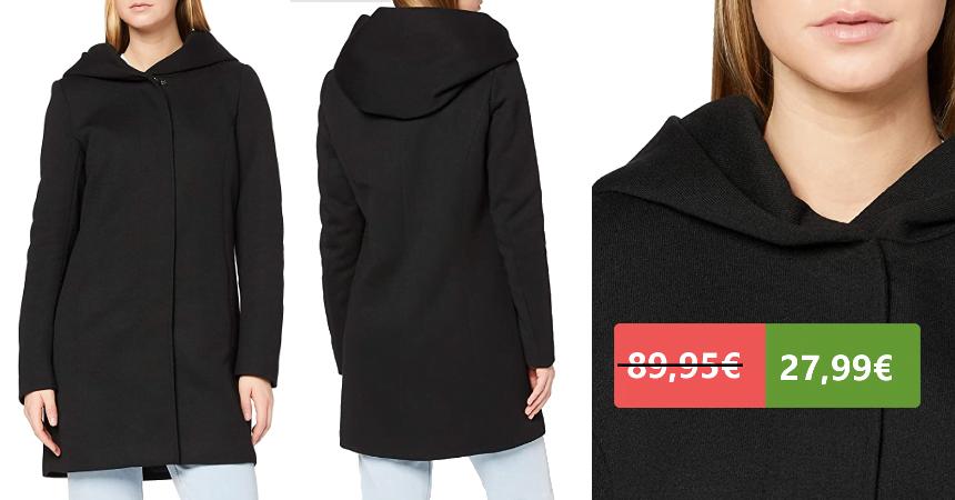 Abrigo de lana Only barato, ofertas en ropa de marca
