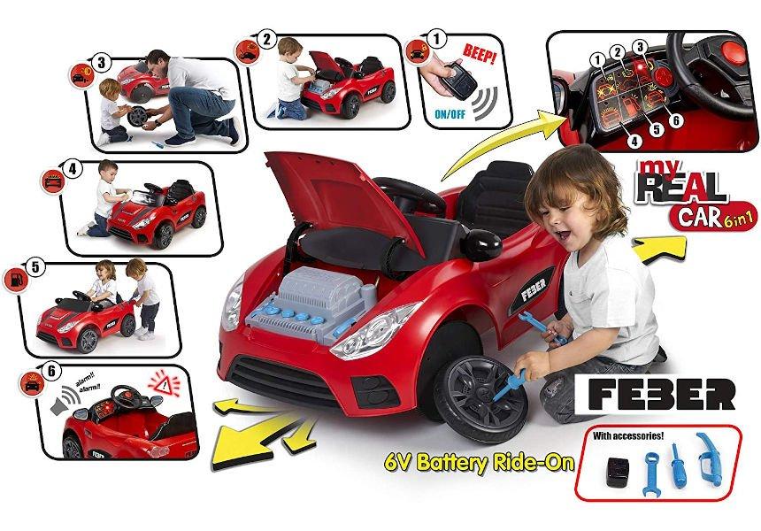 Coche eléctrico a batería FEBER My Real Car barato, juguetes baratos, ofertas para niños oferta