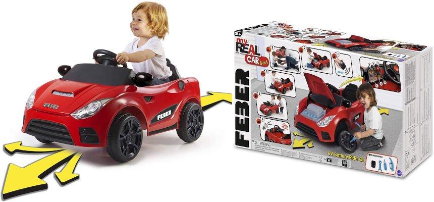 Coche eléctrico a batería FEBER My Real Car barato, juguetes baratos, ofertas para niños