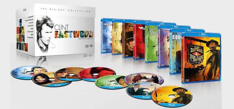 ¡TOMA CHOLLO! Colección 8 películas de Clint Eastwood en Blu-ray solo 31,99 euros. 54% de descuento.