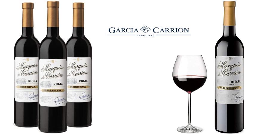 Pack 3 botellas vino Rioja Marqués de Carrión Reserva 2014 barato, ofertas en vino