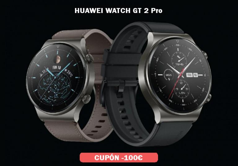 ¡TOMA CUPÓN! Smarwatch Huawei Watch GT 2 Pro sólo 199 euros. Descuento de 100 euros.