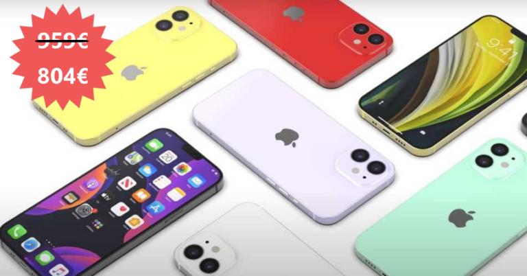 ¡TOMA CHOLLO! Apple iPhone 12 128GB solo 784,99 euros. Descuento de 174 euros. Otros modelos.
