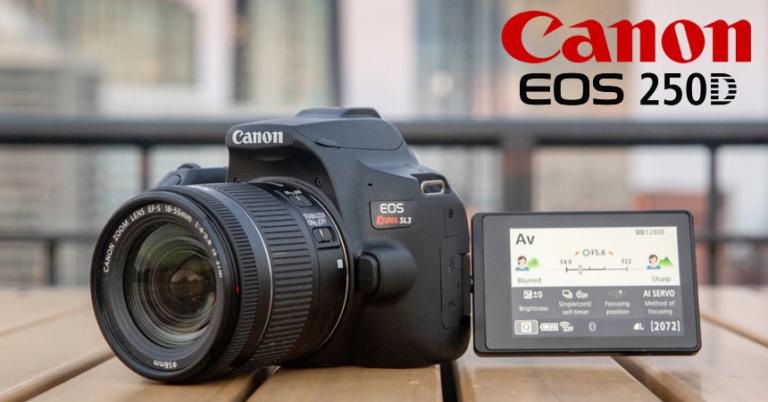 ¡TOMA CHOLLO! Cámara réflex Canon EOS 250D + EF-S 18-55mm + EF 75-300mm solo 599 euros. Descuento de 240 euros.