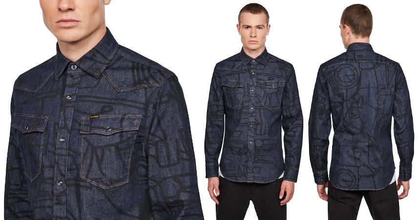 Camisa G-Star Raw 3301 Slim barata, ofertas en ropa de marca