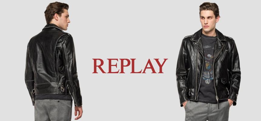 Chaqueta de cuero para hombre Replay Perfecto barata, ofertas en chaquetas de cuero para hombre