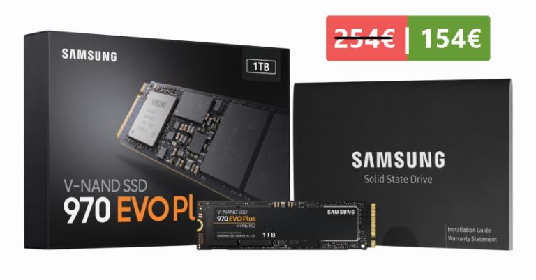 ¡TOMA CHOLLO! Disco SSD Samsung 970 EVO Plus de 1TB solo 154 euros. Ahorra más de 100 euros.