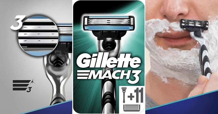 Maquinilla de afeitar Gillette Mach3 con 12 recambios barata, ofertas en maquinillas de afeitar