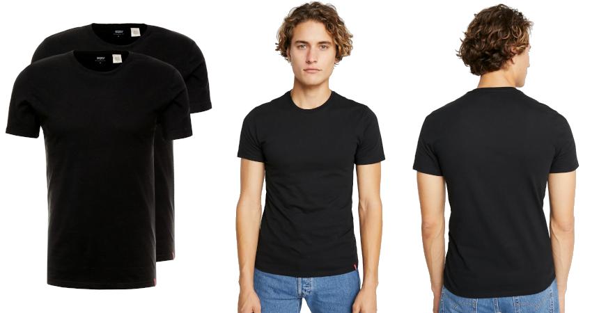 Pack de 2 camisetas Levis baratas, ofertas en ropa de marca