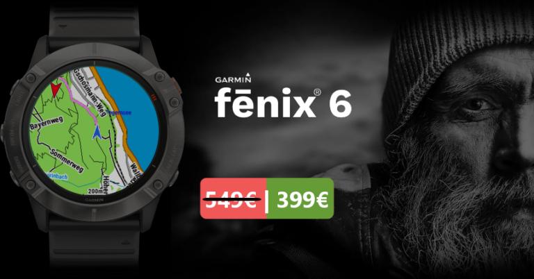 ¡TOMA CHOLLO! Pulsómetro GPS Garmin Fēnix 6 solo 399,99 euros. Descuento de 150 euros.