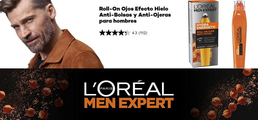 Roll-On ojos L'Oreal Paris Men Expert Hydra Energetic barato, ofertas en productos de cuidado personal