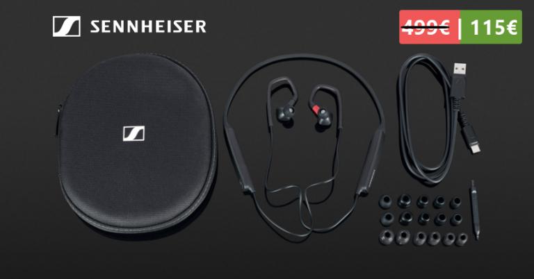 ¡TOMA CHOLLO! Auriculares inalámbricos Sennheiser IE 80S BT solo 115 euros. Descuento del 77%. Ahorras 384 euros.