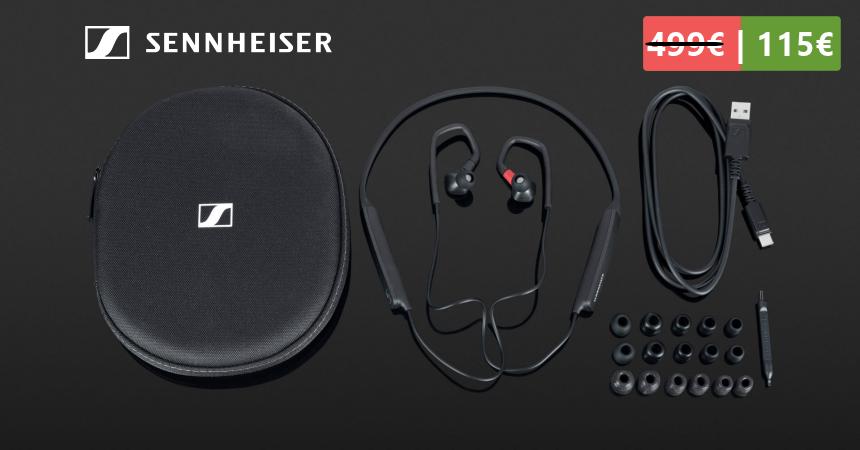 Auriculares audiófilos inalámbricos Sennheiser IE 80S BT baratos, ofertas en auriculares Bluetooth