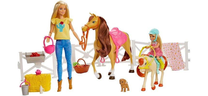 Barbie y Chelsea con caballos barato, ofertas en juguetes
