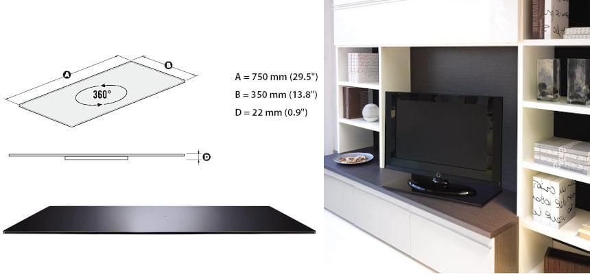 Base giratoria para TV Meliconi Rotobase Elite L barata, ofertas para el hogar