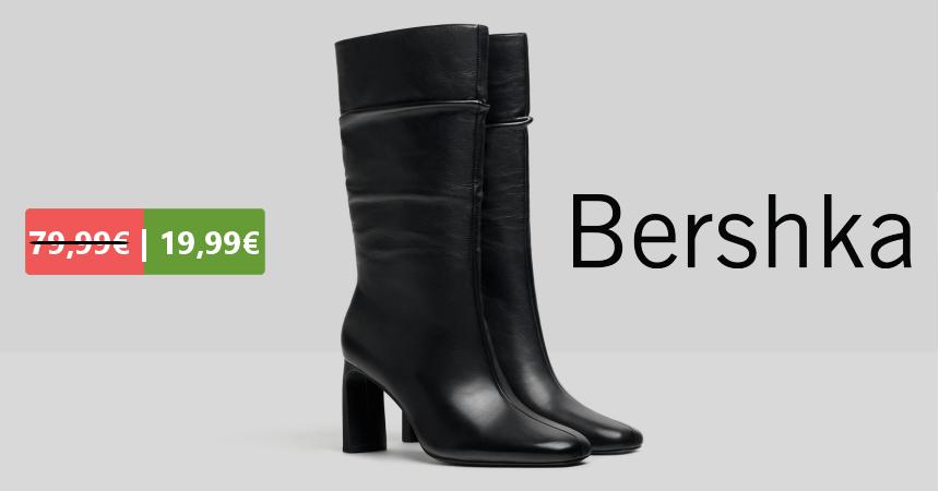 Botas de piel para mujer Bershka baratas, ofertas en botas de piel
