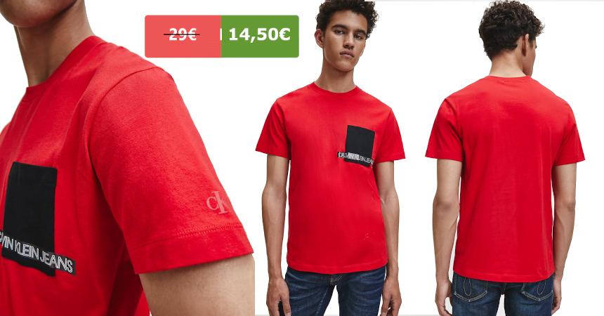 Camiseta Calvin Klein Jeans barata, ofertas en ropa de marca