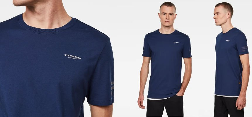 Camiseta G-Star Raw Flag Text barata, ofertas en ropa de marca