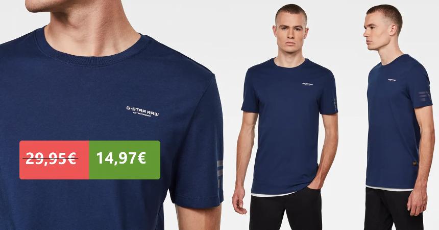 Camiseta G-Star Raw Flag Text barata, ofertas en ropa de marca