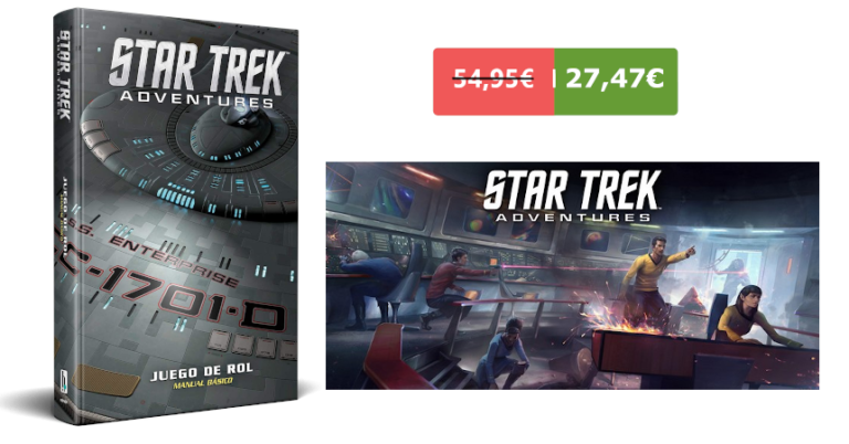 ¡TOMA CHOLLO! Juego de rol Star Trek Adventures solo 27,47 euros. 50% de descuento. Mínimo histórico.