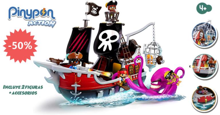 ¡TOMA CHOLLO! Juguete Pinypon Action – Barco pirata ataque al Kraken solo 39 euros. 50% de descuento.