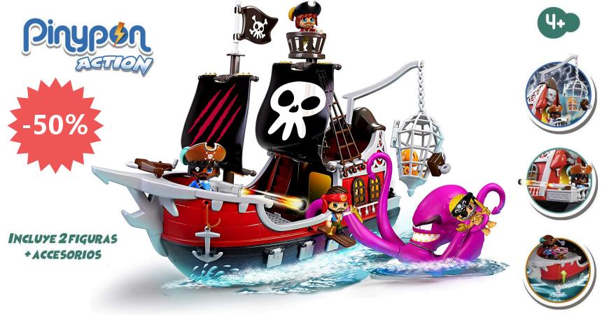 Juguete Pinypon Action - Barco pirata ataque al kraken barato, ofertas en juguetes
