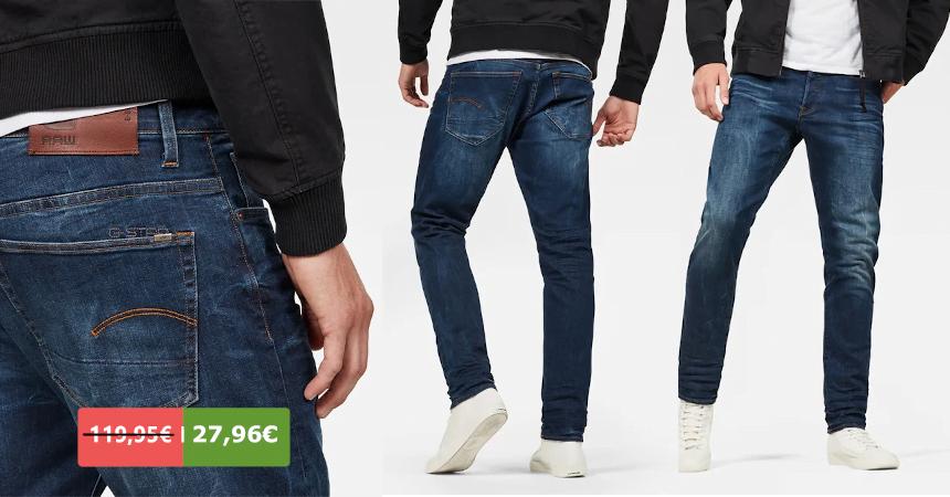 Pantalones vaqueros G-Star Raw 3301 Straight Tapered baratos, ofertas en ropa de marca