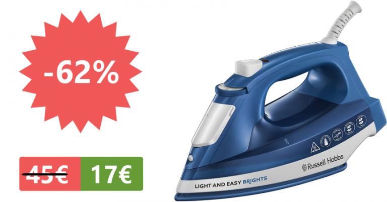 ¡TOMA CHOLLO! Plancha Russell Hobbs Light & Easy Brights solo 17 euros. 62% de descuento.