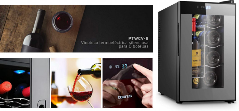 ¡TOMA CHOLLO! Vinoteca Taurus PTWCV-8 solo 93,22 euros. Ahorras 106 euros.