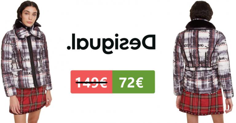 ¡TOMA CHOLLO! Abrigo Desigual Coat Sigrun solo 72,99 euros. 51% de descuento.