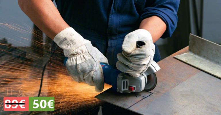 ¡TOMA CHOLLO! Amoladora Bosch Professional GWS 7-125 solo 50,99 euros. Ahorras 38,55 euros.