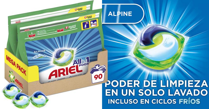 Detergente en cápsulas Ariel Allin1 Pods barato, ofertas en detergente, detergente barato