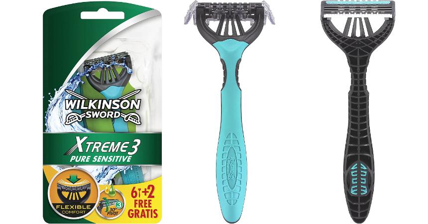 Pack de 8 maquinillas de afeitar Wilkinson Xtreme 3 Pure Sensitive baratas, ofertas en cuidado personal