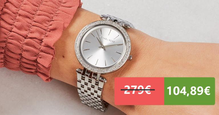 ¡TOMA CHOLLO! Reloj Michael Kors Darci para mujer solo 104,89 euros. 62% de descuento. Mínimo histórico.