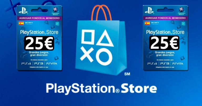 ¡TOMA CUPÓN! Tarjeta PlayStation de 25 euros para PlayStation Store solo 19,94 euros.