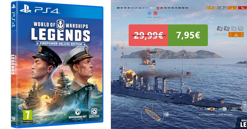Videojuego World of Warships Legends PS4 barato, ofertas en videojuegos