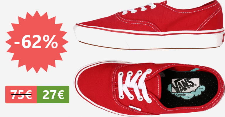 ¡TOMA CUPÓN! Zapatillas Vans Classic ComfyCush Authentic solo 27,92 euros. 62% de descuento.