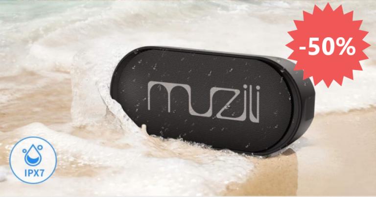 ¡TOMA CUPÓN! Altavoz Bluetooth Muzili IPX7 solo 13,99 euros. Ahorras 14 euros.
