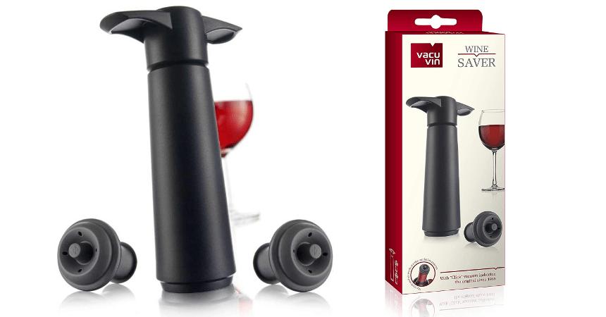 Bomba de vacío con dos tapones Vacu Vin barata, ofertas para el hogar