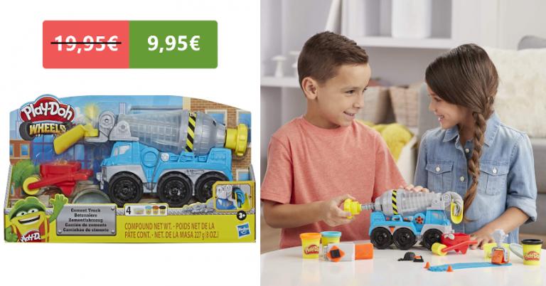 ¡TOMA CHOLLO! Camión de cemento Play-Doh solo 9,95 euros. 50% de descuento. Mínimo histórico.