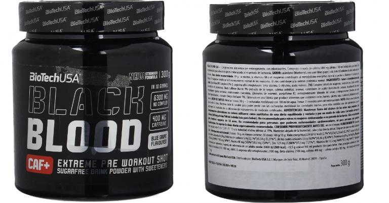 ¡TOMA CHOLLO! Fórmula pre-entreno Black Blood Caf+ solo 7,90 euros. 77% de descuento.