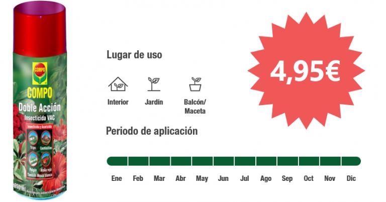 ¡TOMA CHOLLO! Insecticida Compo Doble Acción solo 4,95 euros.