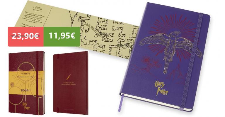 ¡TOMA CHOLLO! Libreta Moleskine Harry Potter edición limitada solo 11,95 euros. 50% de descuento. Mínimo histórico.